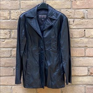 Vintage Wilsons black leather coat size M